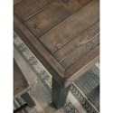Signature Design by Ashley Cazentine Industrial Pine/Metal 5-Piece Rectangular Dining Table Set