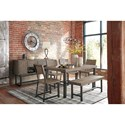 Signature Design by Ashley Cazentine Industrial Pine/Metal Dining Room Server