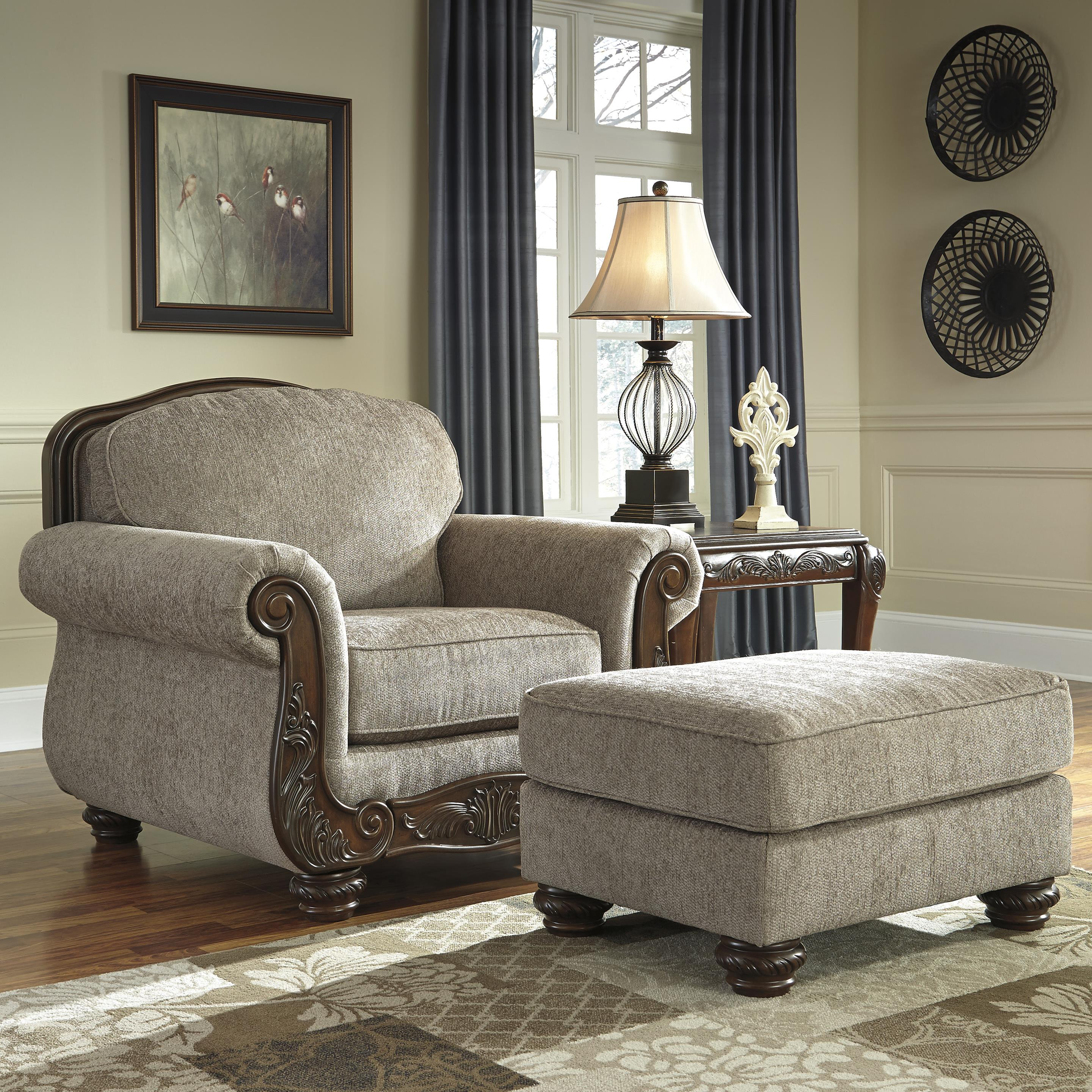 Signature Design by Ashley Cecilyn Chair & Ottoman - Item Number: 5760320+14
