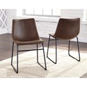 Signature Design by Ashley Centiar Contemporary Dining Upholstered Side Chair with Bucket Seat