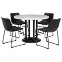 Signature Design by Ashley Centiar 5-Piece Round Dining Table Set - Item Number: D372-14+4x06