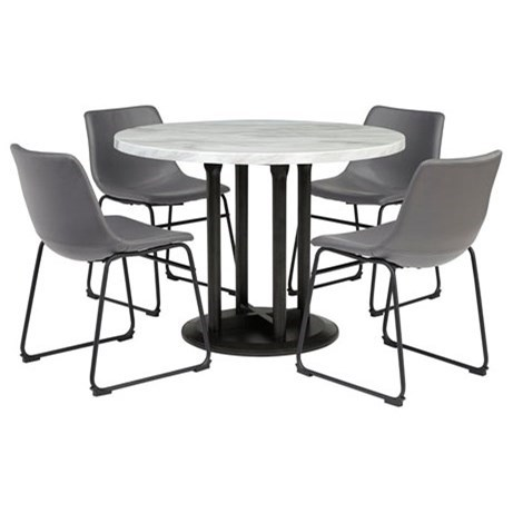 Centiar 5-Piece Round Dining Table Set by Ashley (Signature Design) at Johnny Janosik