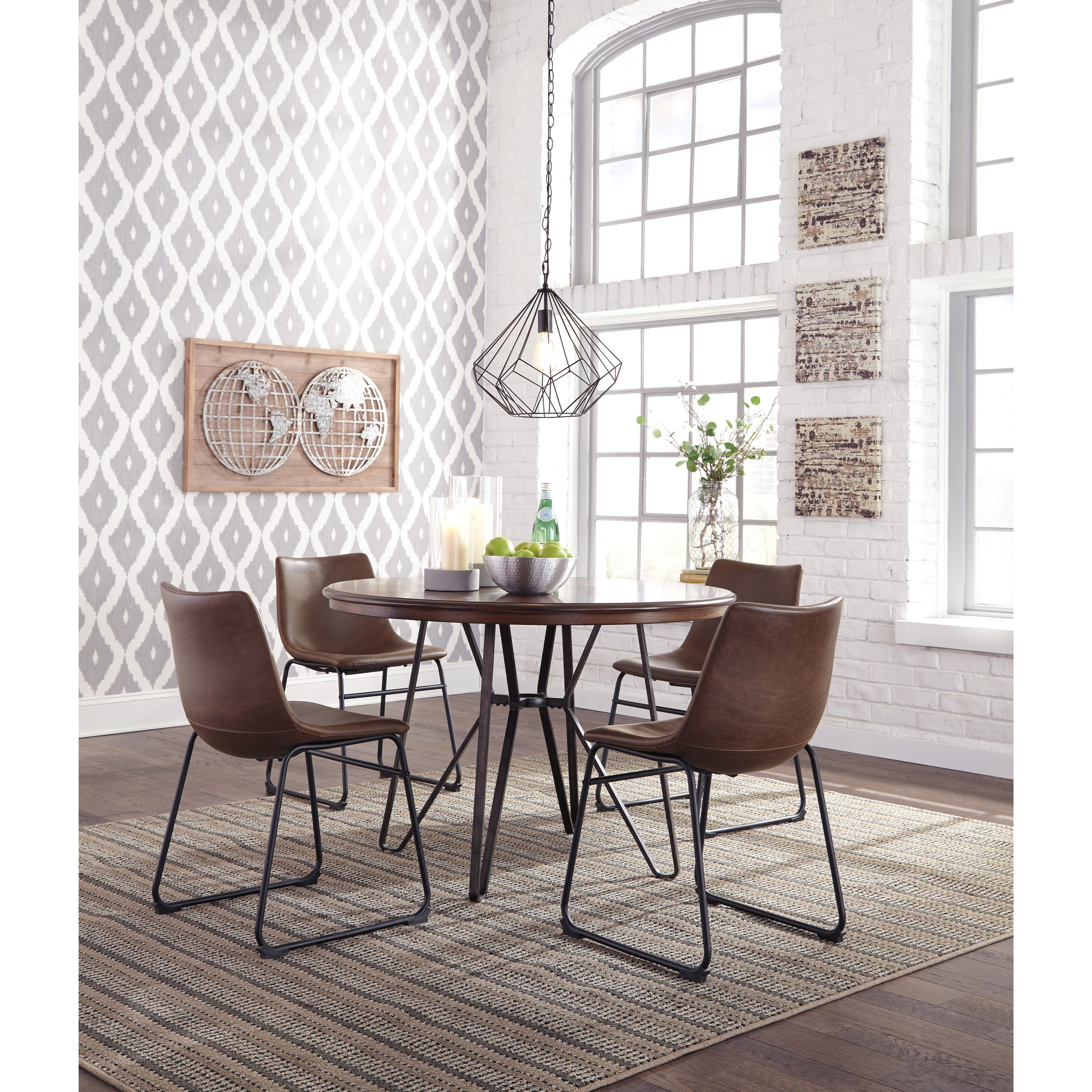 Dining Room Sets Round: Signature Design By Ashley Centiar 5-Piece Round Dining