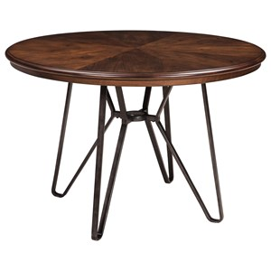 Signature Design by Ashley Centiar Round Dining Room Table