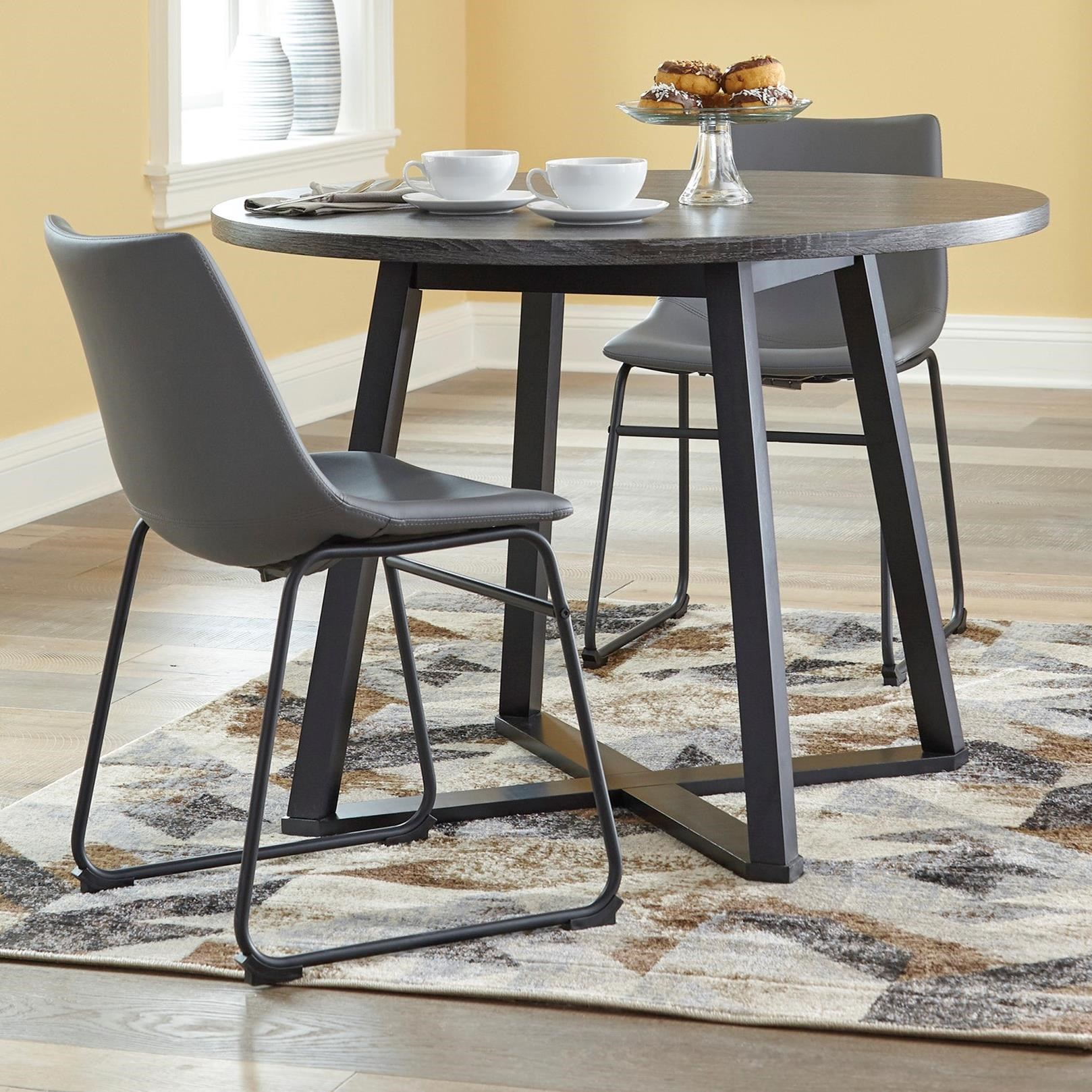 Centiar 3-Piece Round Dining Table Set by Signature Design by Ashley at Standard Furniture