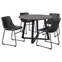 Signature Design by Ashley Centiar 5-Piece Round Dining Table Set - Item Number: D372-16+4x06