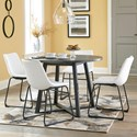 Signature Design by Ashley Centiar 5-Piece Round Dining Table Set - Item Number: D372-16+4x07