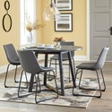 Signature Design by Ashley Centiar 5-Piece Round Dining Table Set - Item Number: D372-16+4x08