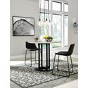 Signature Design by Ashley Centiar 3-Piece Round Counter Table Set