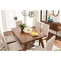 Signature Design by Ashley Centiar Rectangular Dining Room Table with Built-In Storage