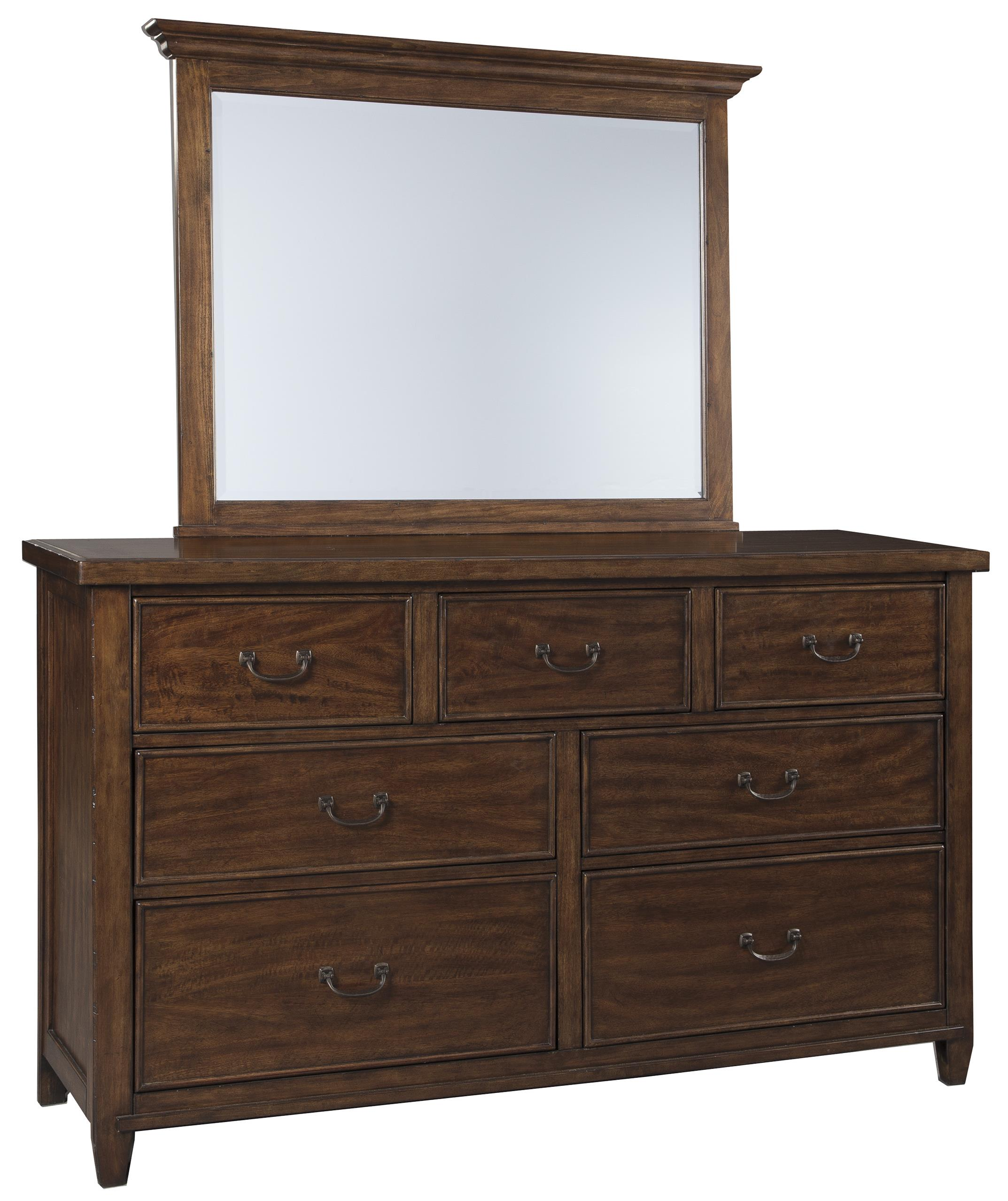 Signature Design by Ashley Chaddinfield Dresser & Bedroom Mirror - Item Number: B648-31+36