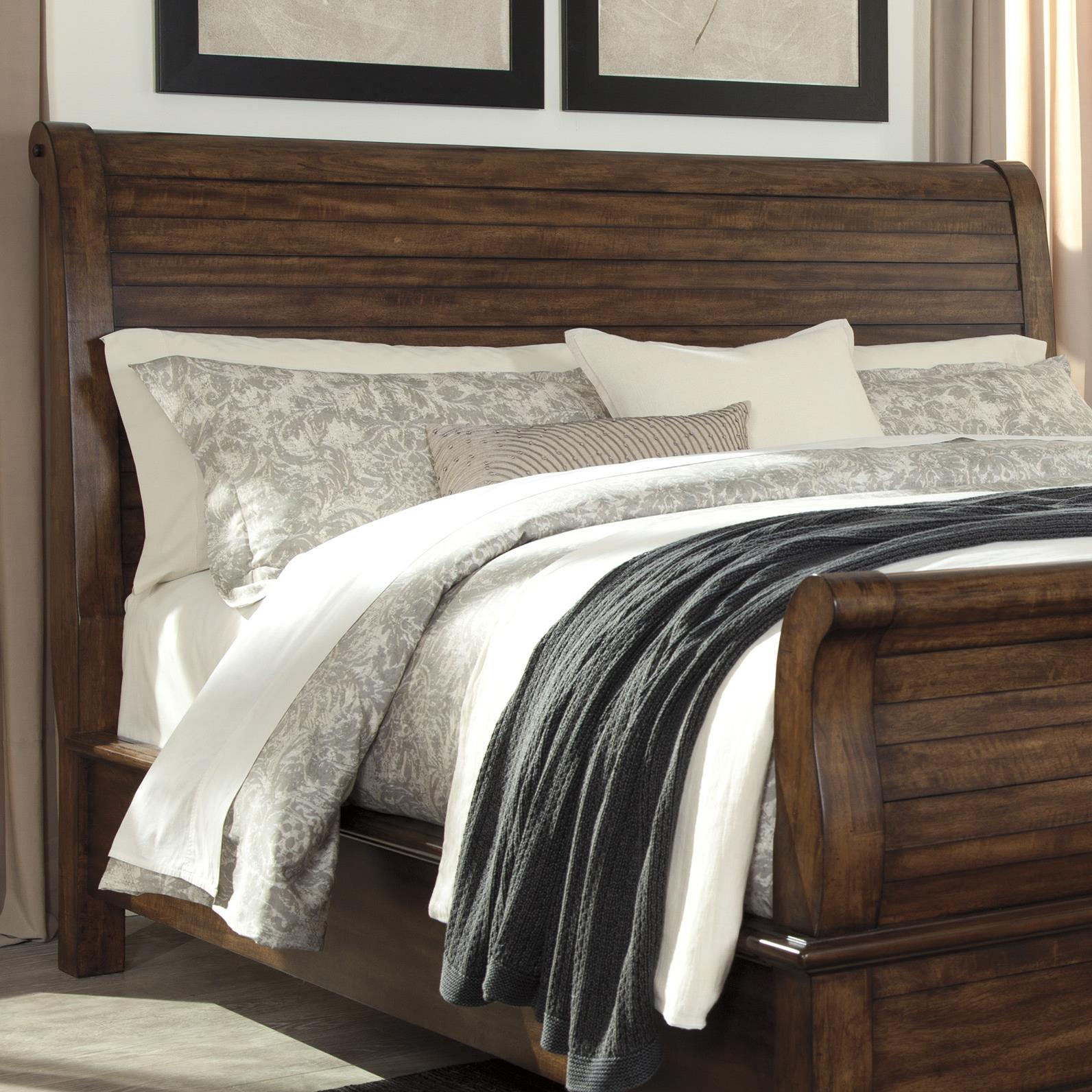 Signature Design by Ashley Chaddinfield Queen Sleigh Headboard - Item Number: B648-77