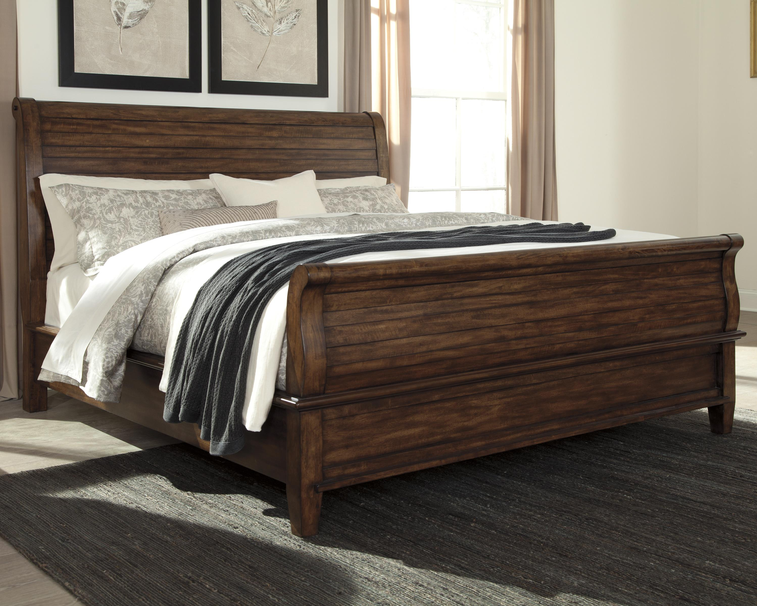 Signature Design by Ashley Chaddinfield King Sleigh Bed - Item Number: B648-78+76+97