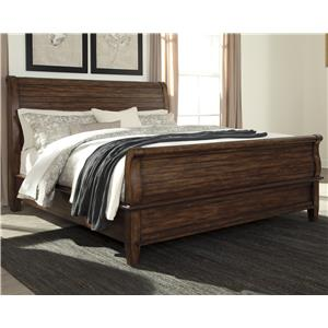 Signature Design by Ashley Chaddinfield King Sleigh Bed