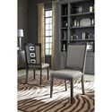 Signature Design by Ashley Chadoni Contemporary Upholstered Side Chair with Metal Accents