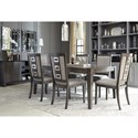 Signature Design by Ashley Channing Contemporary Rectangular Dining Table with Removable Leaf