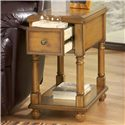 Signature Design by Ashley Breegin Contemporary Brown Holfield Chairside End Table with Drawer and Shelf