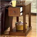 Signature Design by Ashley Breegin Brown Moulded Hamlyn Chairside End Table with Slide Board