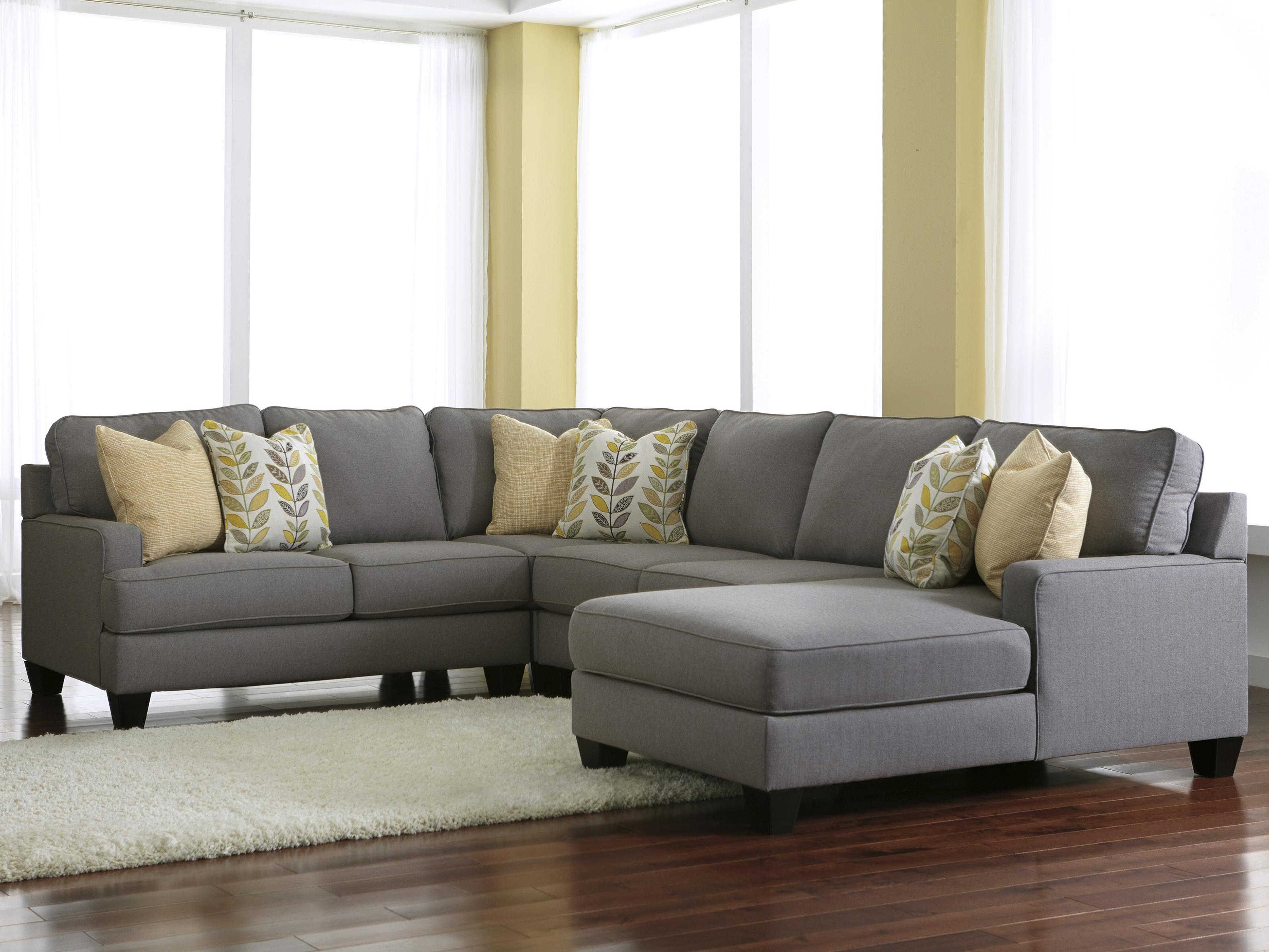 Signature Design by Ashley Chamberly - Alloy 4-Piece Sectional Sofa with Right Chaise - Item Number: 2430255+77+34+17