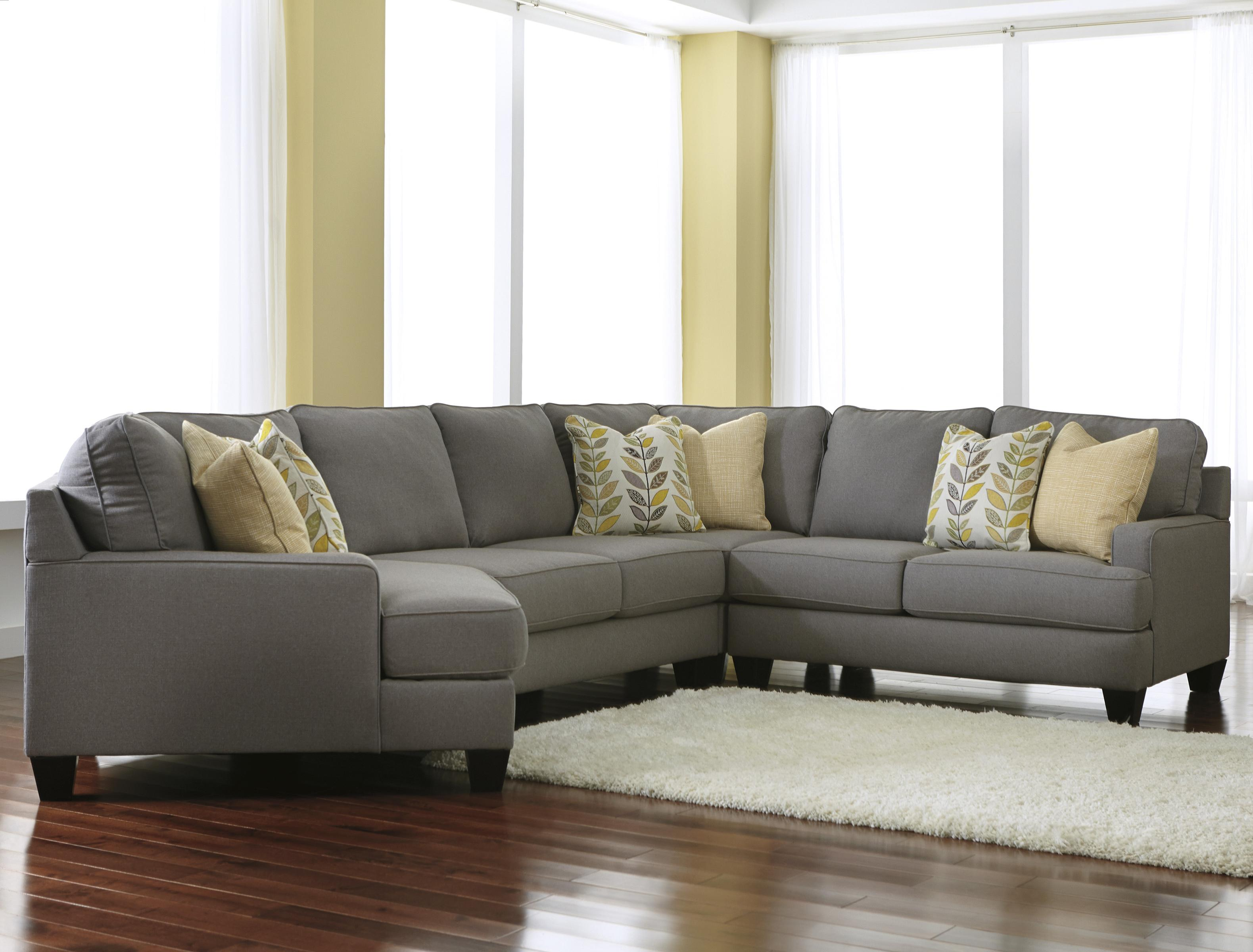 Incroyable Signature Design By Ashley Chamberly   Alloy 4 Piece Sectional Sofa With  Left Cuddler