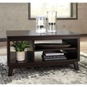 Signature Design by Ashley Chanceen Rectangular Cocktail Table with Open Shelves
