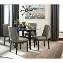 Signature Design by Ashley Chanceen 5-Piece Round Glass Top Table Set