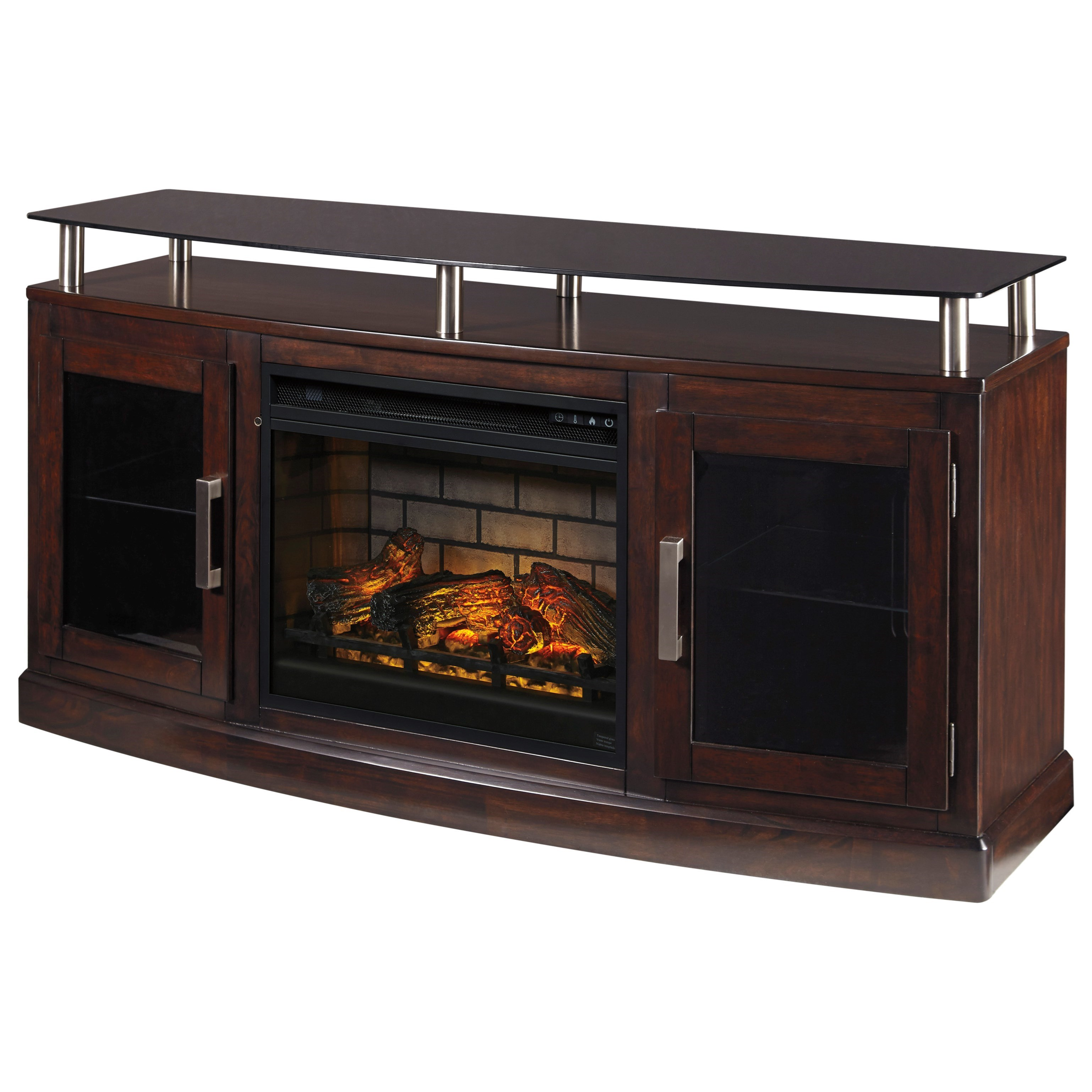 Medium TV Stand with Fireplace Insert