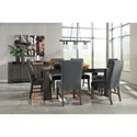 Signature Design by Ashley Chansey Contemporary Dining Upholstered Side Chair in Gray Fabric