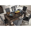 Signature Design by Ashley Chansey 7-Piece Rectangular Dining Table Set