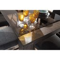 Signature Design by Ashley Chansey Contemporary Rectangular Dining Room Table with Glass Top