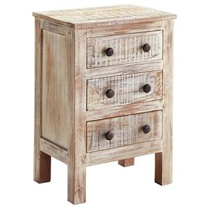 Signature Design By Ashley Charlowe Modern Rustic Door Night Stand John V Schultz Furniture