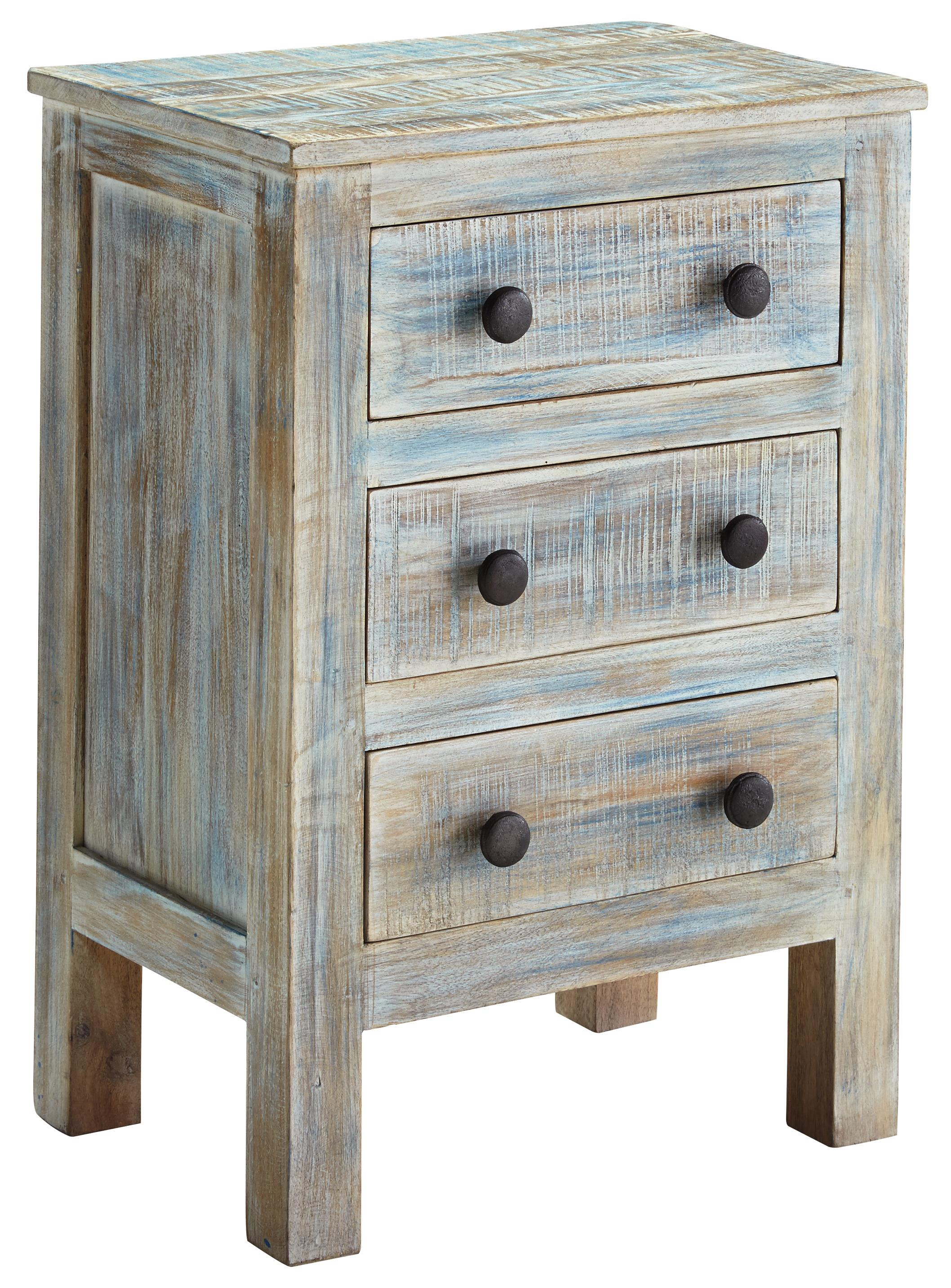 Signature Design by Ashley Charlowe Three Drawer Night Stand - Item Number: B013-393