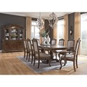 Signature Design by Ashley Charmond Formal Dining Room Group - Item Number: D803 Dining Room Group 5