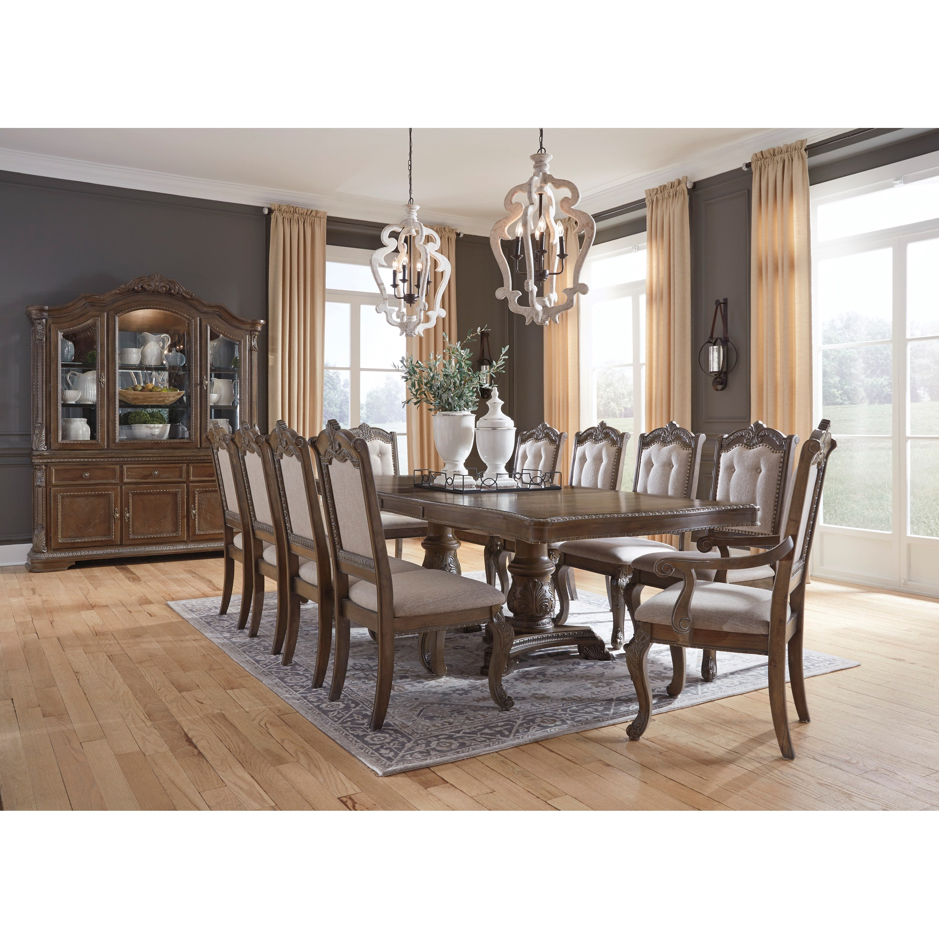 Ashley Realyn 5 Piece Rectangular Dining Table Set D743-45 ...