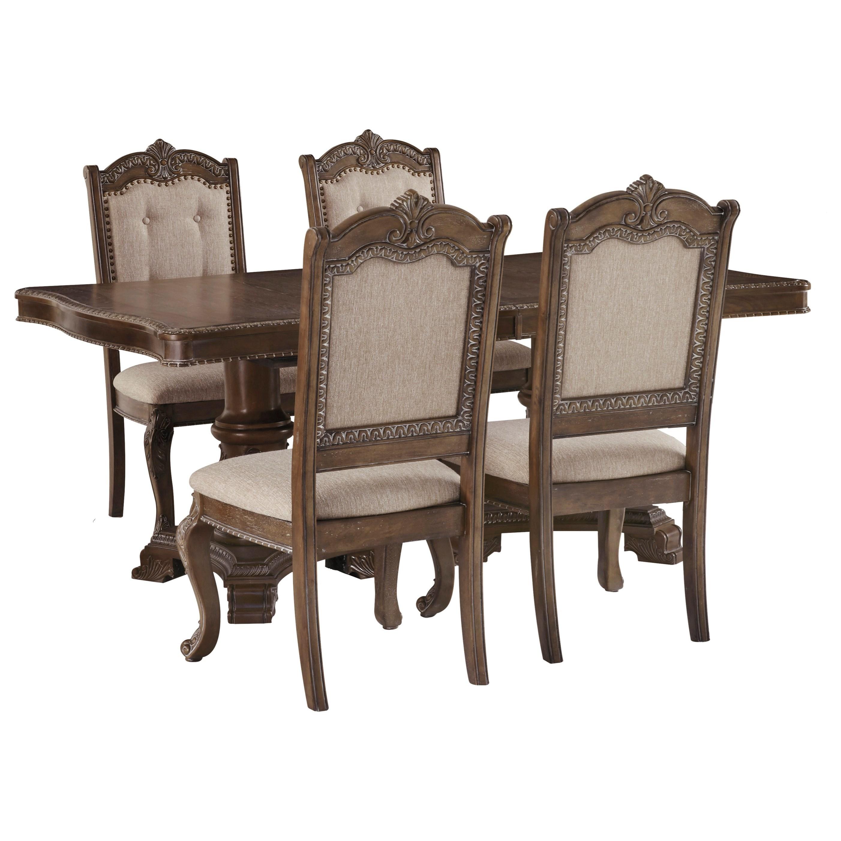 5-Piece Rectangular Extension Table Set