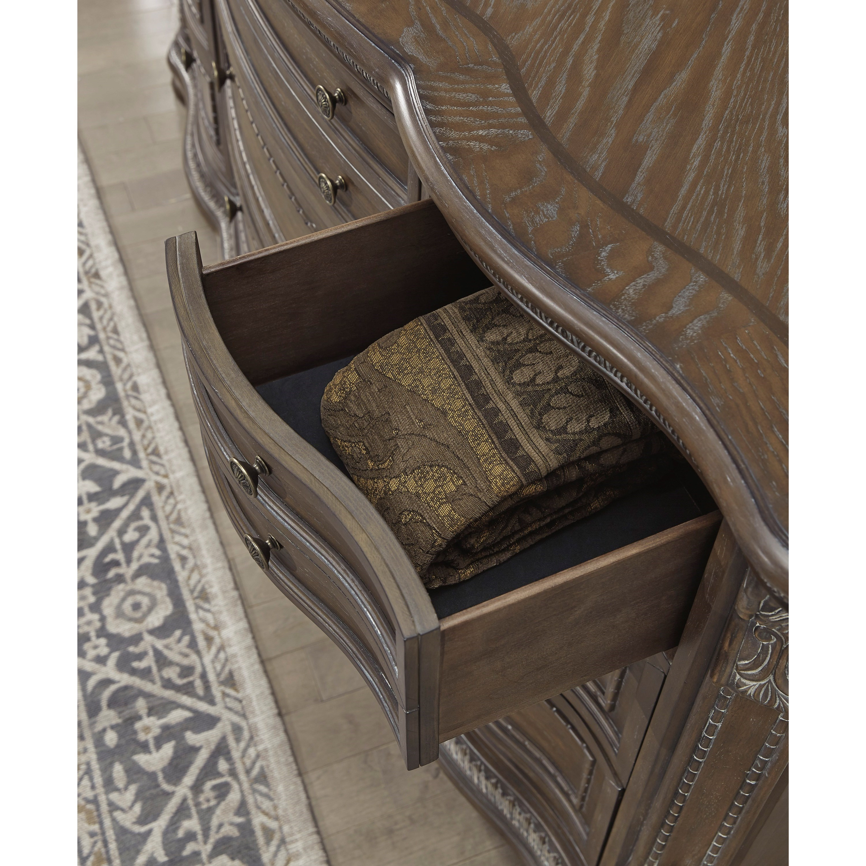 Ashleys Furniture Anchorage: Signature Design Charmond Traditional Nine Drawer Dresser