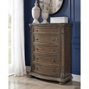 Signature Design by Ashley Charmond Traditional Five Drawer Chest with Framed Drawer Fronts