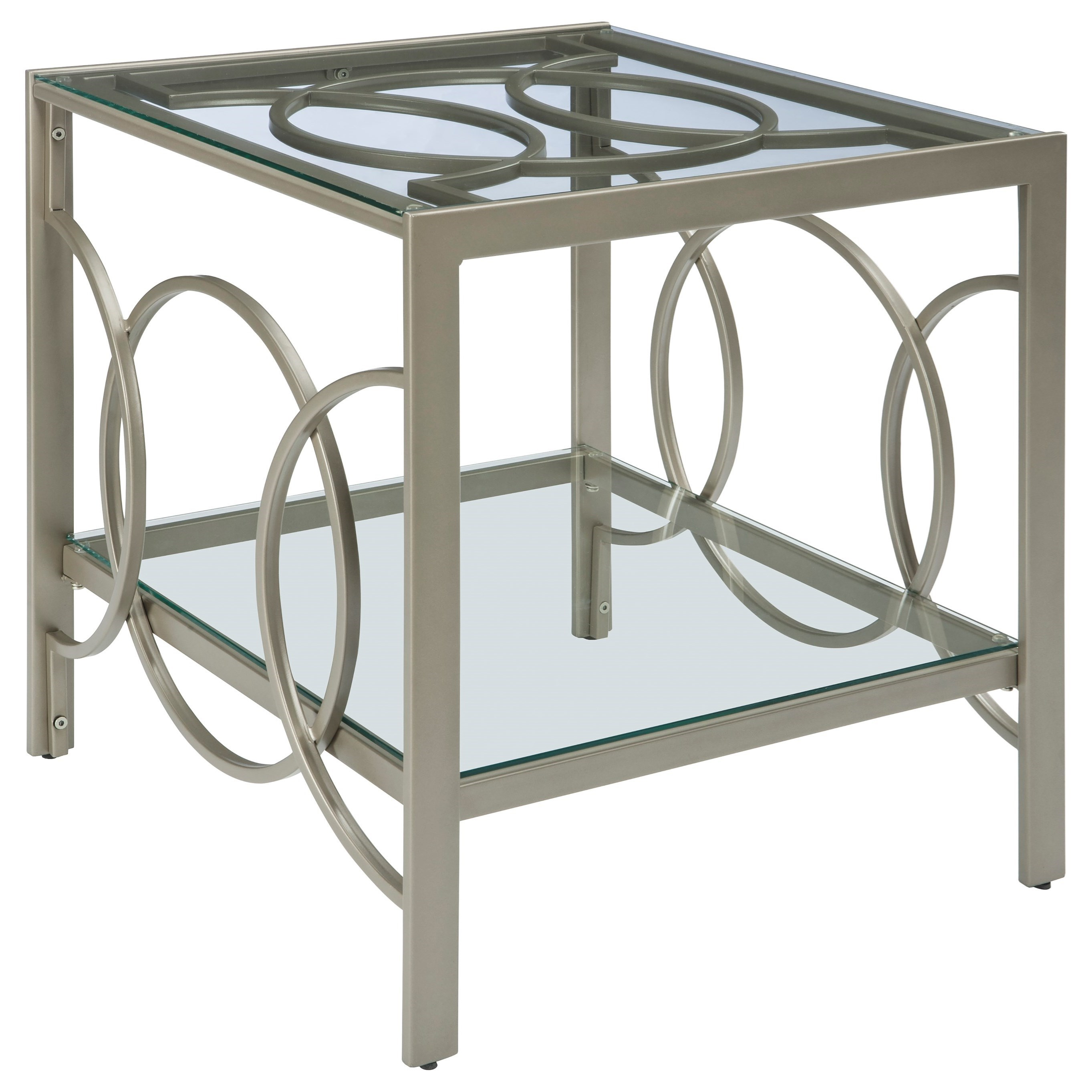 Signature Design by Ashley Charmoni Rectangular End Table - Item Number: T080-3