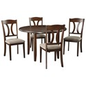 Signature Design by Ashley Charnalo 5-Piece Round Dining Room Table Set - Item Number: D362-225