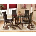 Signature Design by Ashley Charrell 5 Piece Round Dining Table Set - Item Number: D357-15+4x01