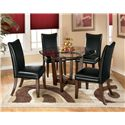 Signature Design by Ashley Charrell 5 Piece Round Dining Table Set - Item Number: D357-15+4x04