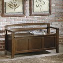 Signature Design by Ashley Charvanna Storage Bench with Arched Back and Arms
