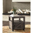 Signature Design by Ashley Chaseburg Rustic Square End Table