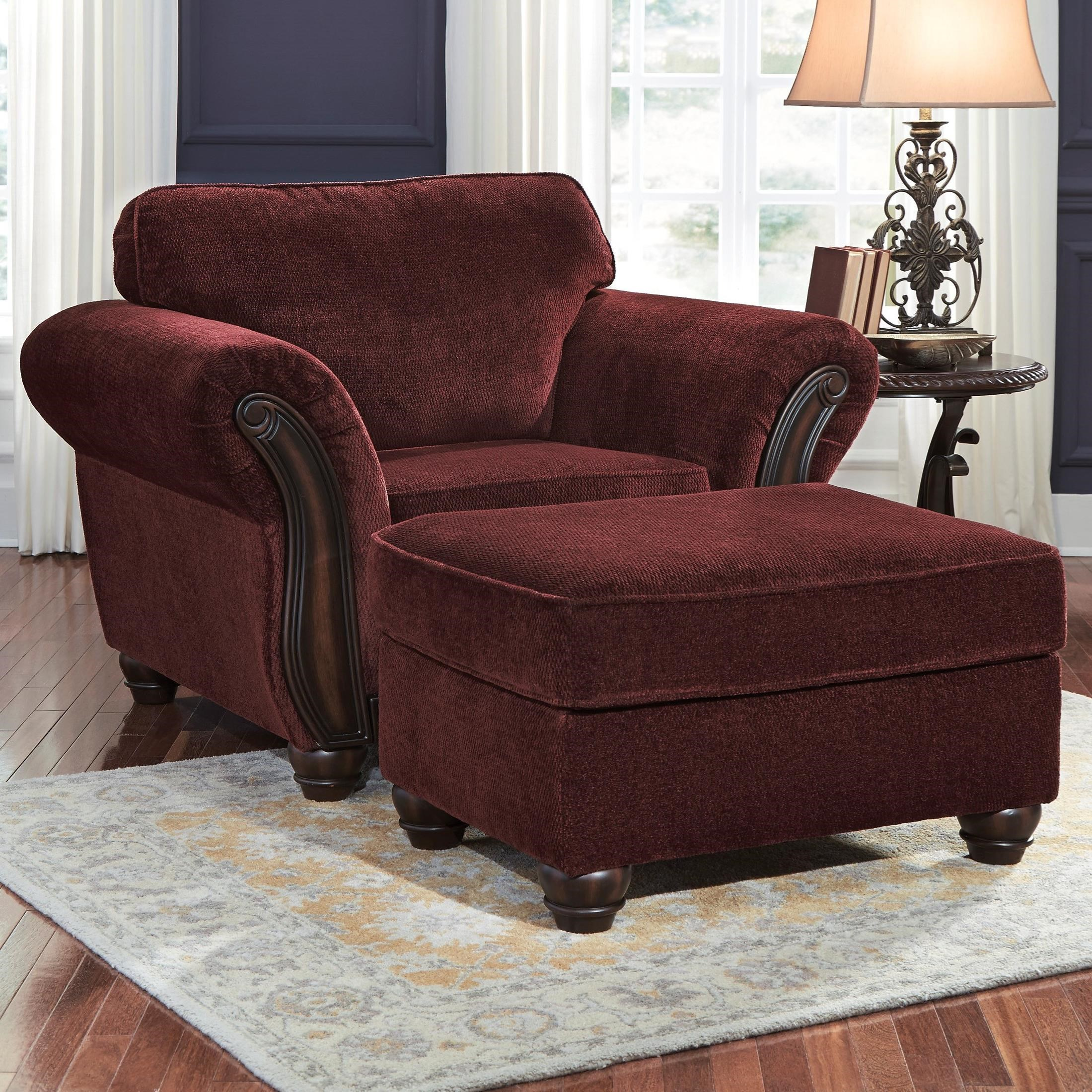 Signature Design by Ashley Chesterbrook Chair & Ottoman - Item Number: 8810220+14