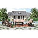 Signature Design by Ashley Chestnut Ridge Outdoor Conversation Set - Item Number: P445-835+838+2x820+P414-701+702