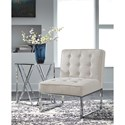 Signature Design by Ashley Cimarosse Upholstered Accent Chair with Chrome Metal Base