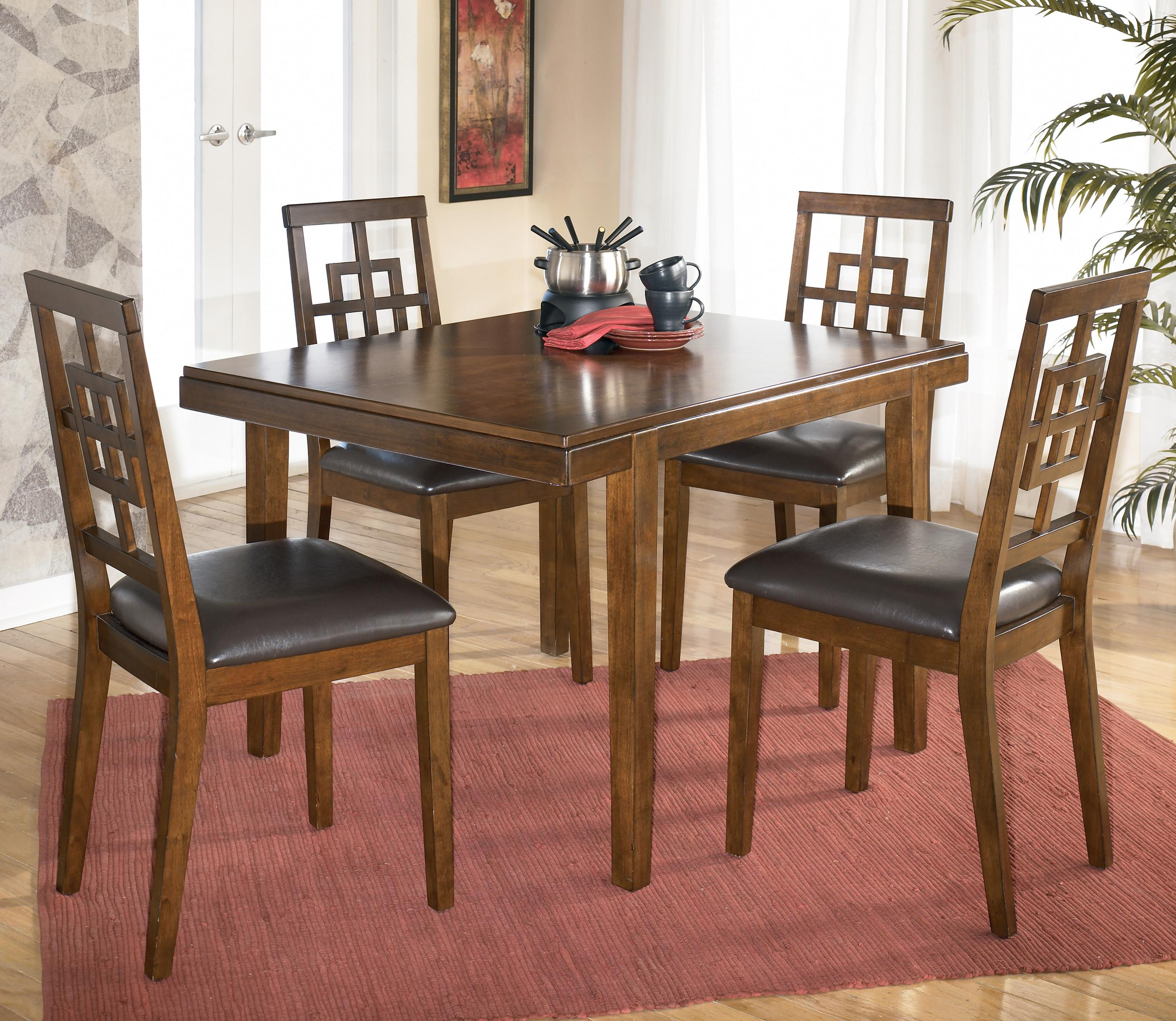 Signature Design by Ashley Cimeran Rectangular Table w/ 4 Side Chairs - Item Number: D295-225