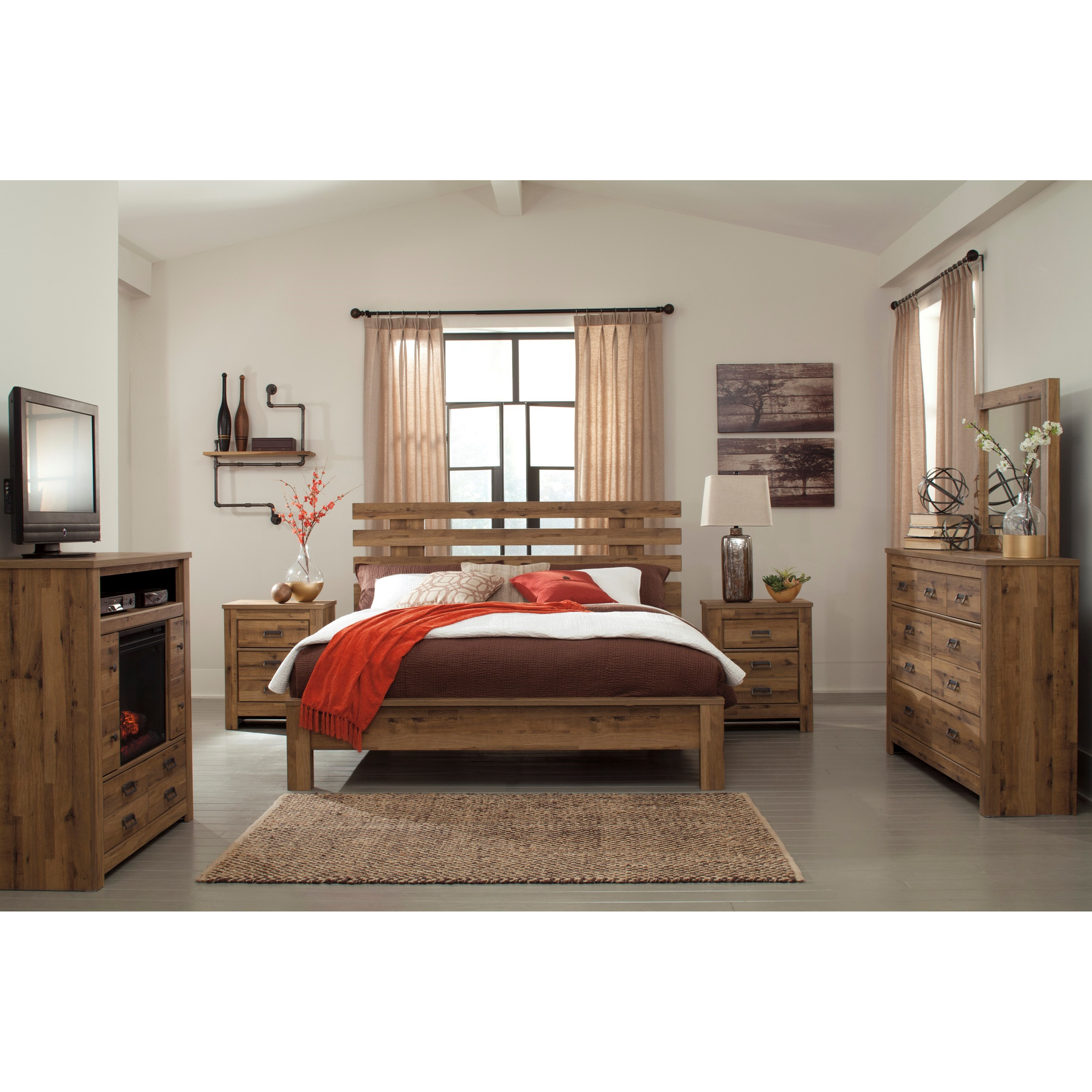Signature Design by Ashley Cinrey King Bedroom Group - Item Number: B369 K Bedroom Group 3