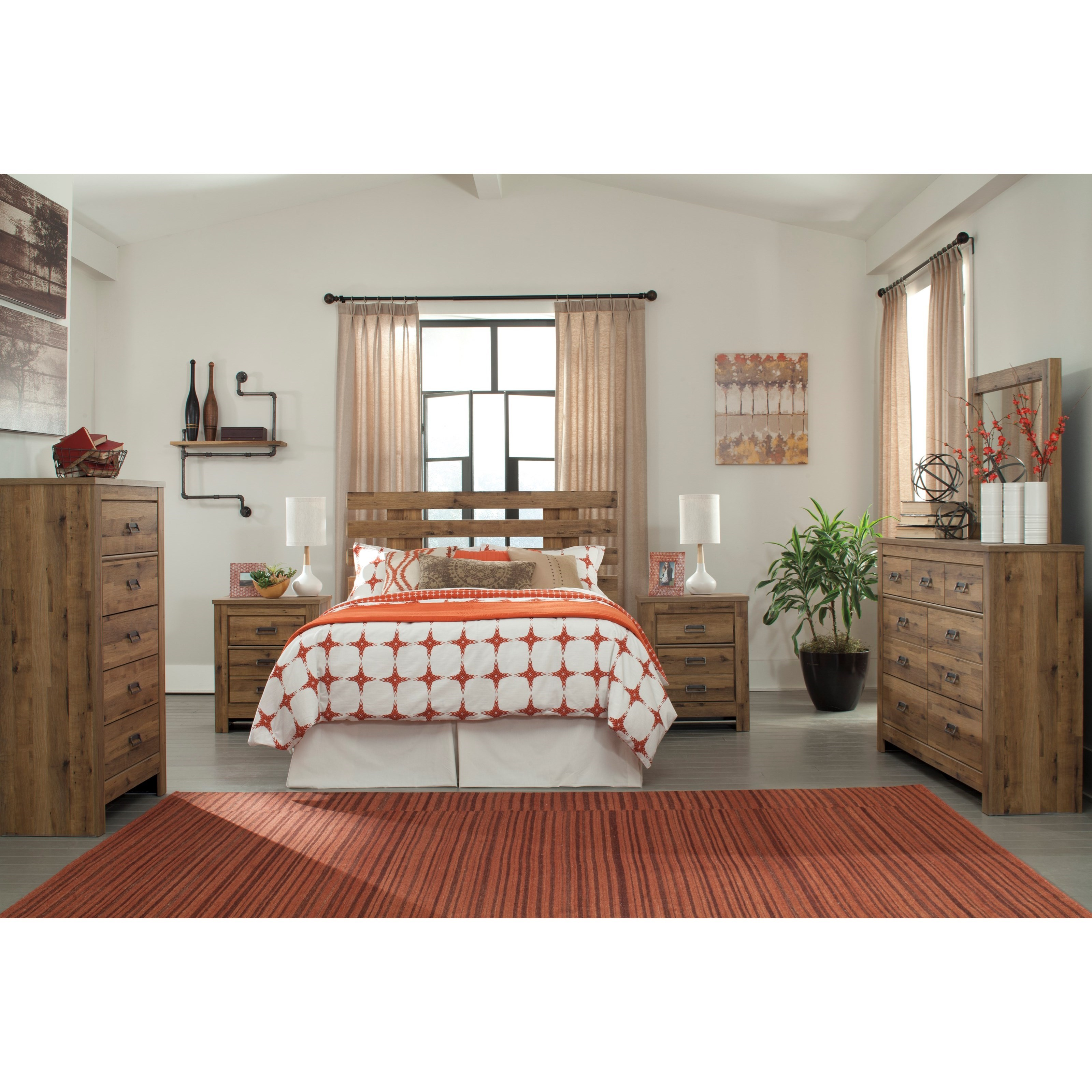 Signature Design by Ashley Cinrey Queen Bedroom Group - Item Number: B369 Q Bedroom Group 1
