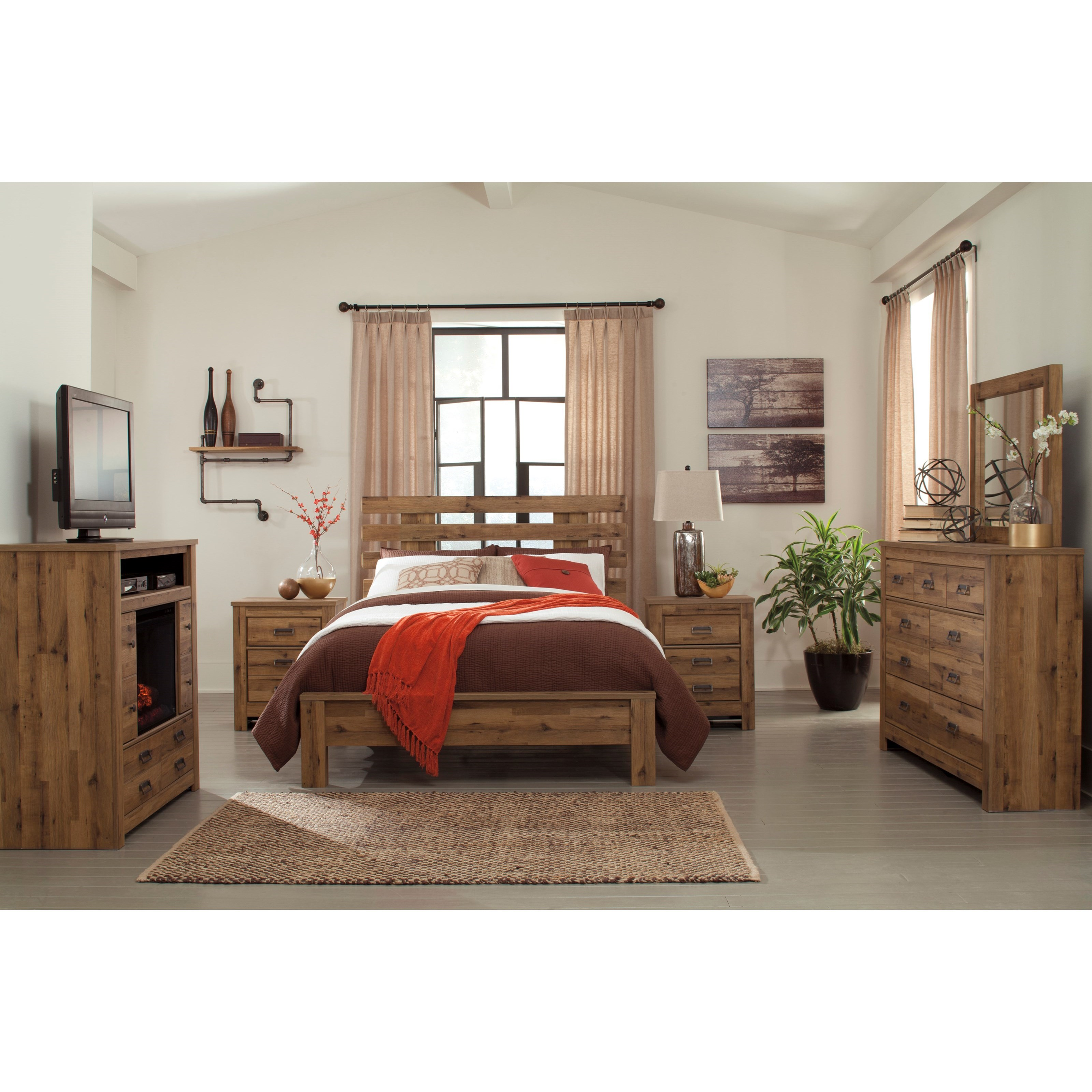 Signature Design by Ashley Cinrey Queen Bedroom Group - Item Number: B369 Q Bedroom Group 3